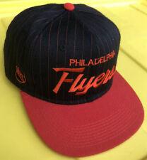 Vintage Philadelphia Flyers Sports Specialties Script SnapBack Hat Pro Pinstripe