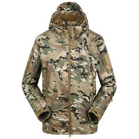 Military Men Waterrproof TAD Jacket Coat Combat Hoody Outdoor Camping Casual