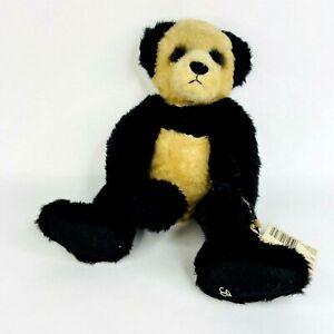 "Mei Ganz Cottage Collectibles Black Tan Panda Teddy Bear 14""  Rare"