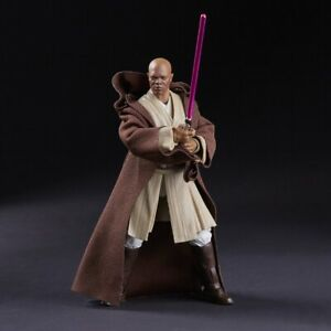 6 Inch Scale Mace Windu Jedi Figure Star Wars Black Series Collection TBS .LOOSE