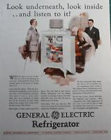4 Vintage Ads 1927 Durkees, Hellmanns Mayonnaise, General Electric, Johnsons Wax