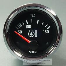 VDO olio indicatore della temperatura 150 ° * Chrome Edition * oil gauge 12v 52mm cabina di pilotaggio INT.