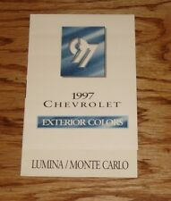 Original 1997 Chevrolet Lumina & Monte Carlo Exterior Colors Sales Brochure 97