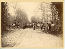 Allemagne, chasse à courre, costumes d'époques, scène en forêt  Vintage alb