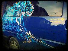Flower Wave Van Vinyl Decal Sticker Campervan / Caravan