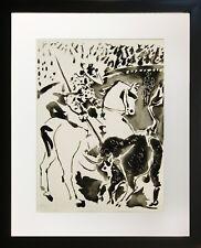 Pablo Picasso Picasor and Taurus (Framed Original Fine Art)
