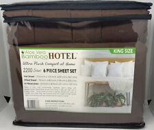 Hotel Brand Bamboo Aloe Vera King/Cal King Sheet Set 6 Pc Deep Pockets Brown