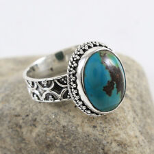 925 Sterling Silver Tibetan Turquoise Gemstone Womens Ring US 11 Jewelry NAS554