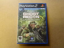 PLAYSTATION 2 GAME / GHOST RECON JUNGLE STORM