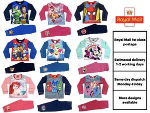 Official Character Pyjamas Pajamas Pjs Girls Boys Kids Toddlers 1 2 3 4 5 6 7 8
