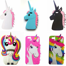 3D Unicorn Horse Silicone Phone Case For iPhone X SE 5 6 7 8 Plus Samsung S8 S9