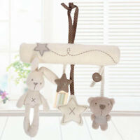 Newborn Baby Pram Handbell Bed Stroller Soft Hanging Toy Animal Rattles Toys