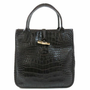 Longchamp   Tote Bag Embossing Leather