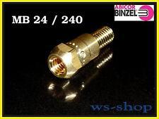 Düsenstock MB 24 (TBi 240) aus Messing M6 x 26mm für Stromdüse von Abicor BINZEL