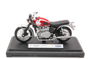 Modellino moto motor bike 1:18 TRIUMPH BONNEVILLE T100 2002 diecast modellismo