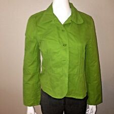 Ann Taylor Blazer Size 10 Womens Green Suit Jacket Long Sleeve Button Up