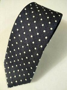 """NWT / JoS. A. Bank 1905 Men's Tie / Deep Gray w/ White Dots / 57""""X 3"""""""