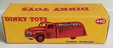 Dinky 440 MOBILGAS Tanker Empty Repro Box Only