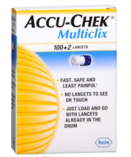 Rare Cheapest Sealed Accu Chek Multiclix Lancets - 17 drums of 102 lancets
