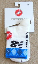 BNWT GARMIN TEAM MERINO WOOL SOCKS MADE BY CASTELLI. SMALL / MEDIUM