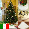 Long NEVE PELUCHE ALBERO DI NATALE Gonna Base Tappetino Cover Natale Decora -Ιι
