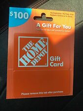 Home Depot Gift Card 100.00$ No Reserve Free Shipping