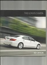 LEXUS LS 600h SALES BROCHURE FEBRUARY 2010