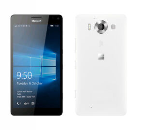 Microsoft  Lumia  950 *White* 32GB   20MP  *unlocked*  Window10-  Smartphone