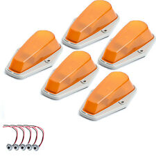 5X Amber Cab Top Roof Running Marker Light Covers for 73-97 Ford F150 F250 F350
