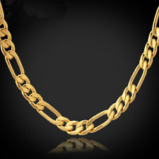 Inch 6Mm Stainless Steel Figaro Link Chain Necklace 22''