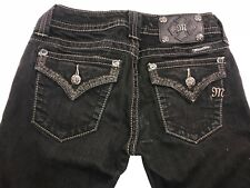 Miss Me Jeans Size 25 Black Skinny Jeans Stretch Jeans Limited Edition