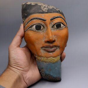 ANCIENT EGYPT EGYPTIAN Goddess PTAH ANTIQUES Pharaoh MASK STATUE STONE BC