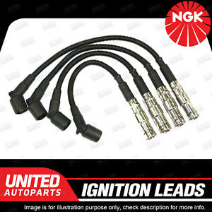 NGK Spark Plug Ignition Lead Set for BMW 318i E46 4Cyl 1998-2001 Long Life