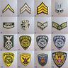 Militar/Policía Insignia con Plancha Bordado Tela Parche Appliqué EE.UU. Gb