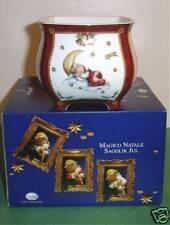 Goebel Magical Christmas Flower Pot Planter/Candy Jar Dreamer in Moon New