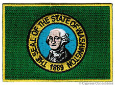 WASHINGTON STATE FLAG embroidered iron-on PATCH GEORGE applique EMBLEM BEST new