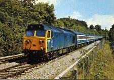 Diesel Locomotive Class 50 50013 AGINCOURT Bodmin Road Cornwall unused postcard