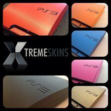 Texturiert Kohlefaser Skin Aufkleber Satz für Playstation 3 PS3 Wrap Abziehbild