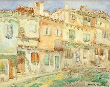 Lucie RANVIER-CHARTIER (1867-1932) Vue d'ALBI Montagne TARN Marcel BASCHET