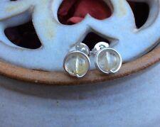 Citrine Handmade Silver Plated Costume Earrings