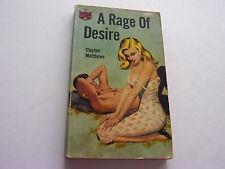 A RAGE OF DESIRE  1964  CLAYTON MATTHEWS  BARGAIN CAVE READER COPY!  VERY GOOD-