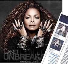 JANET JACKSON CD Unbreakable 2015 Album 17 Track + PROMO Sheet EYES OPEN Sleeve