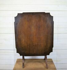 Antique Edwardian Polished Wooden Fire Screen and Metamorphic Folding Tea Table