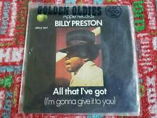 Billy Preston Sealed Apple 45 record ALL THAT I GOT picture sleeve 1969 Beatles
