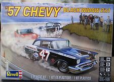 1957 Chevrolet 150 Utility Sedan Black Widow 2´n1, 1:25, Revell 4441 wieder 2017