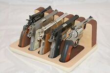 Pistol 5 Gun Rack Stand 502 Maple Brown Cabinet Safe