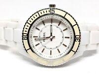 """FOSSIL Stella White Plastic Women's Watch ES-2442 ES2442 6.5"""" band"""