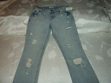 "AEROPOSTALE CHELSEA BOOT CUT DISTRESSED JEANS. SZ 00, INSEAM 29"" WAIST 26"""