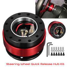 Aluminum Car Steering Wheel Quick Release Hub Adapter Off Kit Universal Red