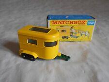 Matchbox Lesney No 43 Pony trailer boxed